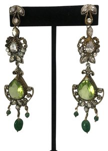 Vintage Vintage Bollywood long dangly chandelier silver earrings