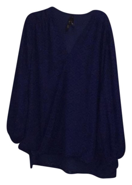 Preload https://img-static.tradesy.com/item/21819630/twilight-blue-draped-front-blouse-size-20-plus-1x-0-1-650-650.jpg