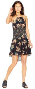 Free People short dress Carbon Contrast Combo Floral Slip Intimately Summer on Tradesy