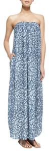 Blue Maxi Dress by L'AGENCE Strapless Silk Maxi