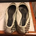 Steve Madden Putty (very light grayish-beige)/ Silver Flats Image 10