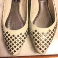 Steve Madden Putty (very light grayish-beige)/ Silver Flats Image 8