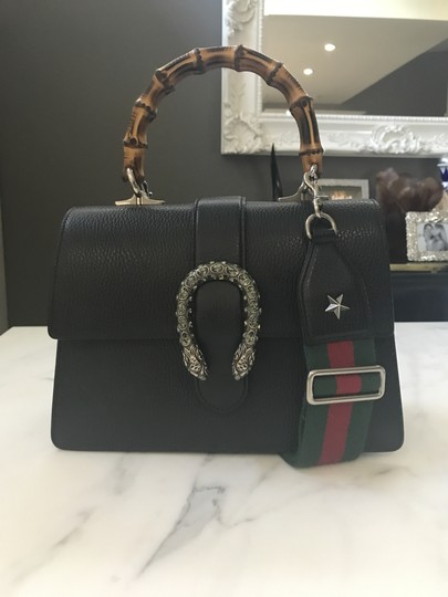ca2581ba7 Gucci Dionysus Bamboo Top Handle Black Leather Shoulder Bag - Tradesy