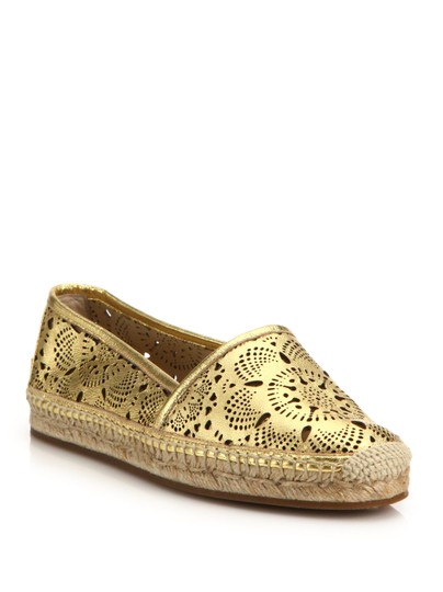 Burberry Gold Flats Image 1