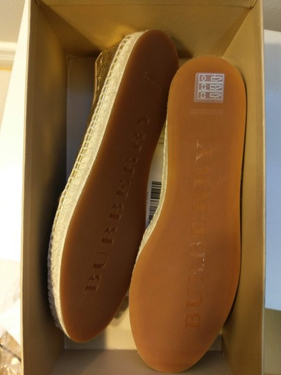 Burberry Gold Flats Image 10