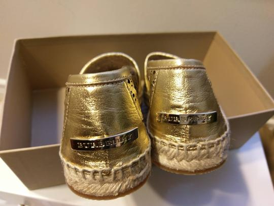 Burberry Gold Flats Image 11