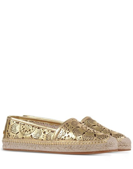 Burberry Gold Flats Image 3