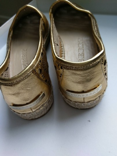 Burberry Gold Flats Image 4