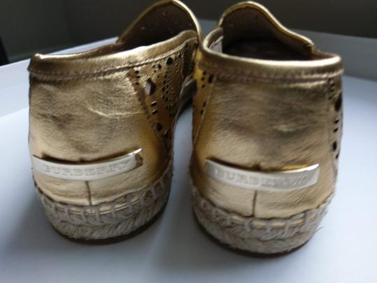 Burberry Gold Flats Image 5