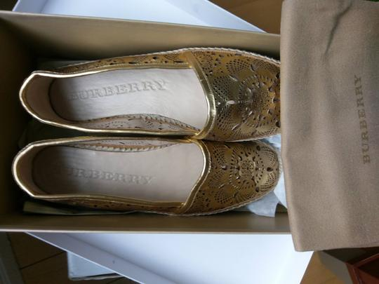 Burberry Gold Flats Image 6