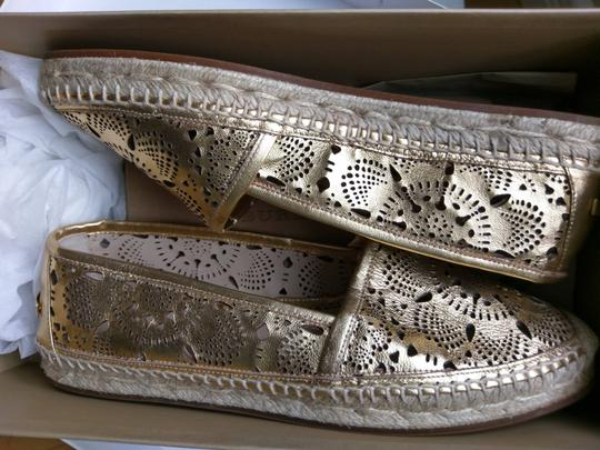Burberry Gold Flats Image 7