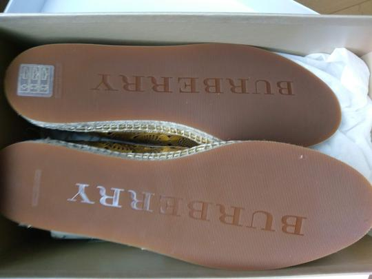 Burberry Gold Flats Image 8