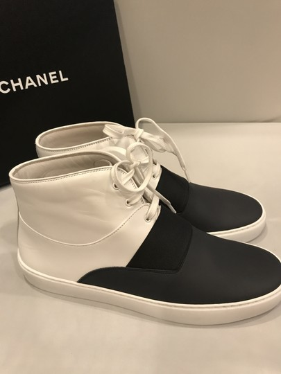 Chanel Hi Top High Top Kicks Trainers Sneakers Black/White Athletic Image 3