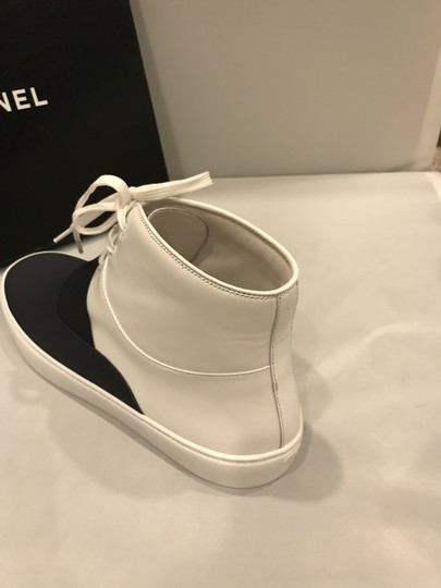 Chanel Hi Top High Top Kicks Trainers Sneakers Black/White Athletic Image 5