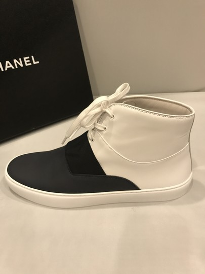 Chanel Hi Top High Top Kicks Trainers Sneakers Black/White Athletic Image 7