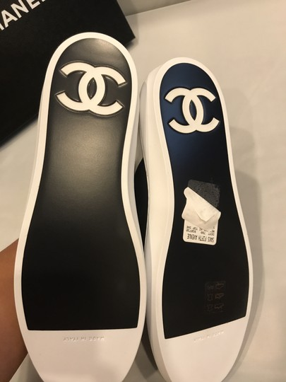 Chanel Hi Top High Top Kicks Trainers Sneakers Black/White Athletic Image 1