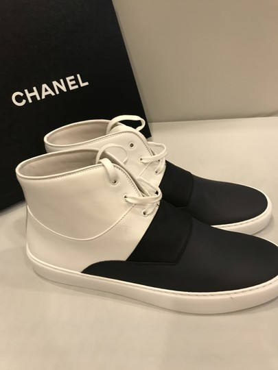 Chanel Hi Top High Top Kicks Trainers Sneakers Black/White Athletic Image 2