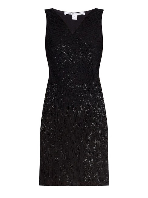 Diane von Furstenberg Beaded Embellished Night Out Dvf Dress Image 4