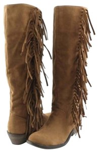Material Girl Cody Womens Designer Knee Chestnut Boots