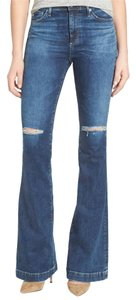 AG Adriano Goldschmied High Rise High Waist Vintage Flare Leg Jeans-Medium Wash