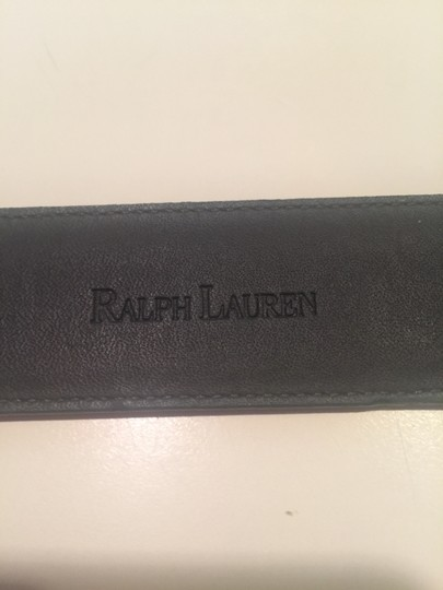 "Ralph Lauren Ralph Lauren high sheen brown leather belt with Silver buckle 34 & 1/2 "" x 1 & 3/4"""