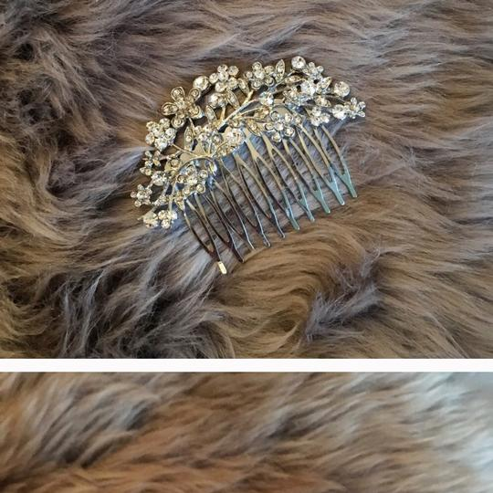 Flower Romantic Crystal Bridal Hair Comb Wedding bridal wedding jewelry new flower romantic diamonds easy crystal silver hair comb hair pins accessory prom jewelry leaf fine Image 1