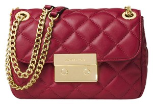 247da5cac314 Added to Shopping Bag. Michael Kors Shoulder Bag. Michael Kors Sloan Small  Chain Quilted Cherry Gold Leather ...