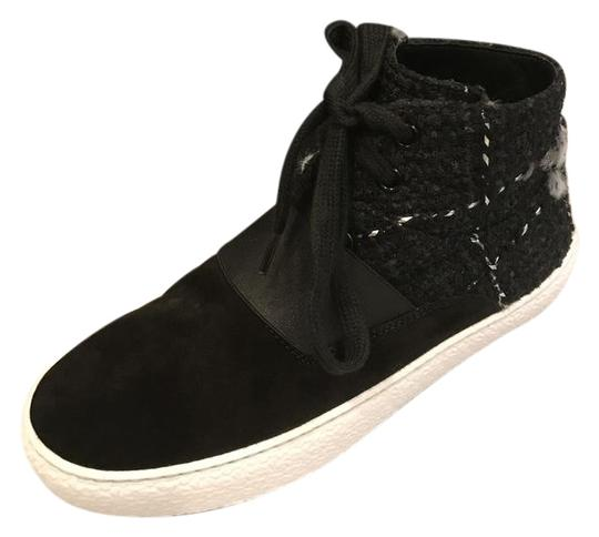 Preload https://img-static.tradesy.com/item/21820549/chanel-black-16b-tweed-suede-lace-up-high-top-trainers-sneakers-size-eu-365-approx-us-65-regular-m-b-0-1-540-540.jpg
