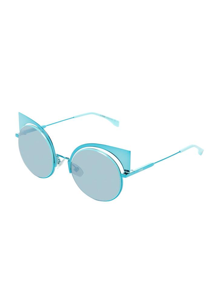 f61f0890886 Fendi NEW FENDI Eyeshine Aqua Blue Mirror Cat Eye Fashion Sunglasses Image  0 ...