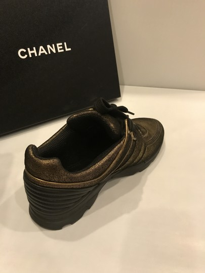 Chanel Cc Sneakers Kicks Fabric Gold Golden Brown Athletic Image 7