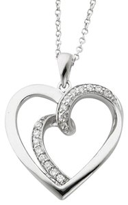 Apples of Gold Two Hearts One Flesh Sterling Silver Heart Pendant