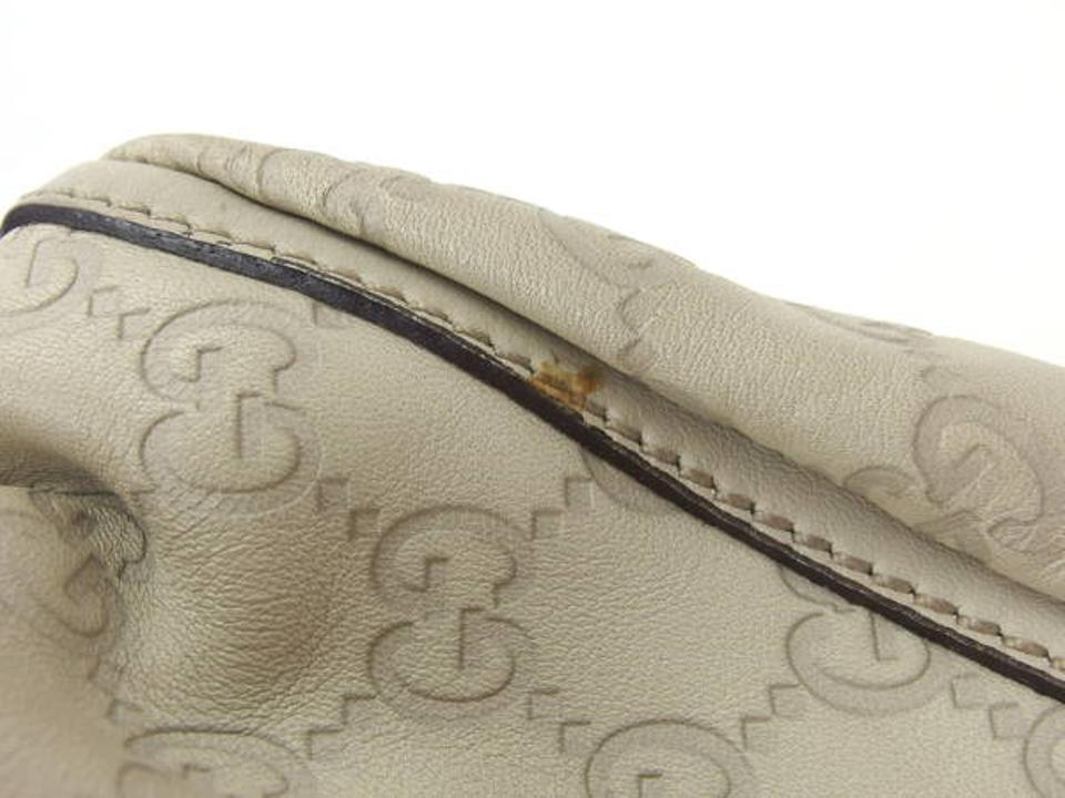 741fe991875 Gucci Guccissima Small D-ring 220933 Ivory Leather Hobo Bag - Tradesy