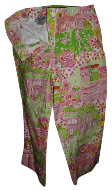 Preload https://img-static.tradesy.com/item/21820909/lilly-pulitzer-pink-green-yellow-classic-print-sketch-flowers-negresco-capricropped-jeans-size-24-0-0-1-650-650.jpg