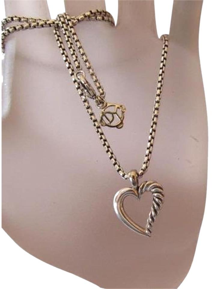 David yurman sterling silver 14k yellow gold heart fashion for How to be a fashion designer at 14
