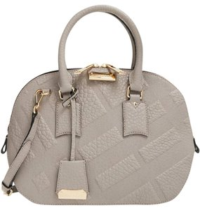 Burberry Satchel in stone white