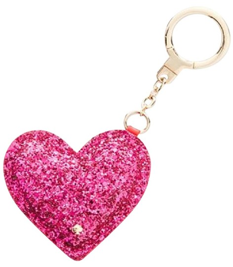 Kate Spade Red/Pink Glitter Heart Keychain Key Fob Red/Pink 1kru0317 Tech  Accessory 36% off retail