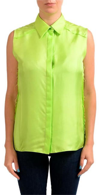 Item - Green V-6710 Button-down Top Size 4 (S)
