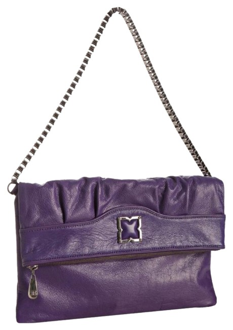 BCBGMAXAZRIA Demi Foldover Purse Purple Shoulder Bag BCBGMAXAZRIA Demi Foldover Purse Purple Shoulder Bag Image 1