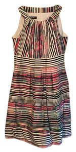 Nine West short dress white, black, pink, multi on Tradesy