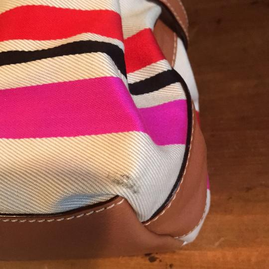 Kate Spade Satchel in Beige with red, navy and hot pink Image 3