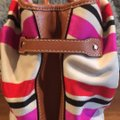 Kate Spade Satchel in Beige with red, navy and hot pink Image 4