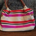 Kate Spade Satchel in Beige with red, navy and hot pink Image 8