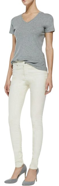 Item - Off White Coated Pleatherette Skinny Jeans Size 28 (4, S)