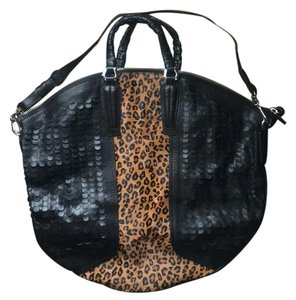 orYANY Satchel in Black and leopard