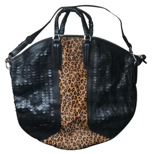 orYANY Satchel in Black and leopard Image 0