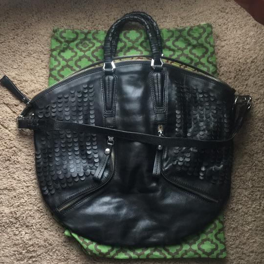 orYANY Satchel in Black and leopard Image 1