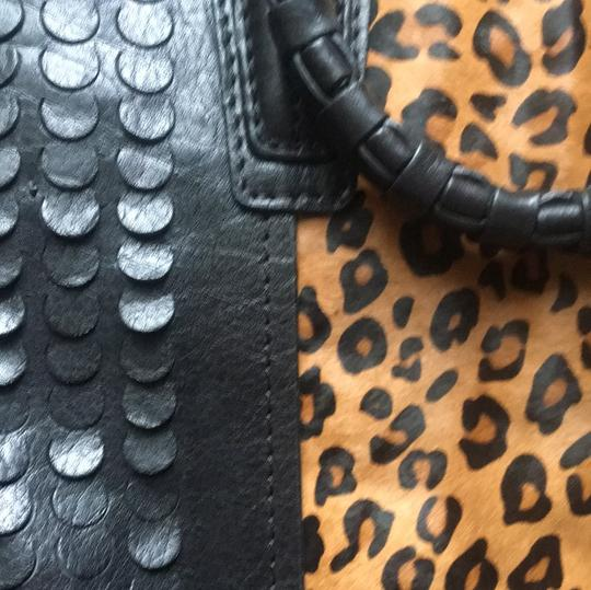 orYANY Satchel in Black and leopard Image 6