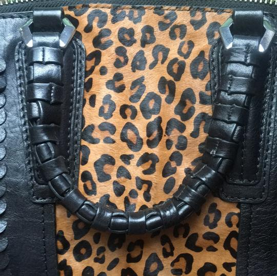 orYANY Satchel in Black and leopard Image 8
