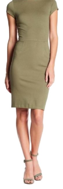 Preload https://img-static.tradesy.com/item/21821862/nordstrom-green-loveady-olive-capsleeve-mid-length-workoffice-dress-size-0-xs-0-1-650-650.jpg