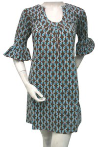 Tracy Negoshian short dress Brown teal on Tradesy